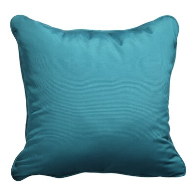 Basilia Outdoor Sunbrella Throw Pillow Size: 18 x 18, Fabric: Canvas Teal