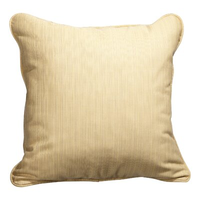 Baskerville Outdoor Throw Pillow Size: 18 x 18, Fabric: Dupione Cornsilk