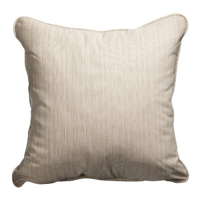 Baskerville Outdoor Sunbrella Throw Pillow Size: 18 x 18, Fabric: Dupione Sand