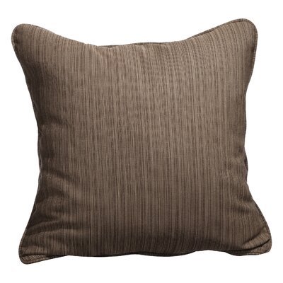 Baskerville Outdoor Throw Pillow Size: 20 x 20, Fabric: Dupione Walnut