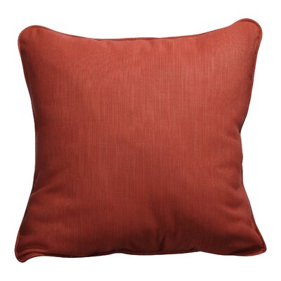 Basilia Outdoor Sunbrella Throw Pillow Size: 18 x 18, Fabric: Textured Red