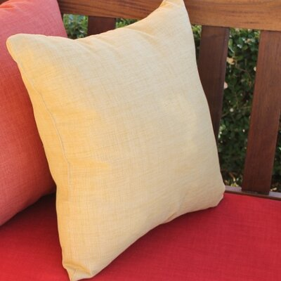 Serche Solid Cotton Throw Pillow Color: Eggshell