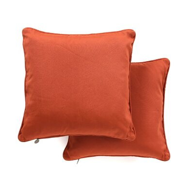 Serche Solid Cotton Throw Pillow Color: Spice