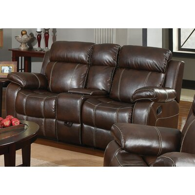 Darby Home Co DBHC3296 26429543 Chestnut Double Gliding Loveseat