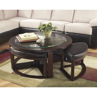 Eastin 5 Piece Coffee Table and Stool Set