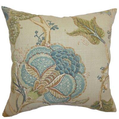 Gare Floral Linen Throw Pillow Size: 18