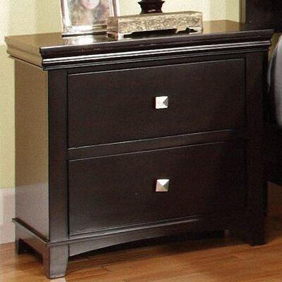 Elyot 2 Drawer Nightstand Finish: Espresso