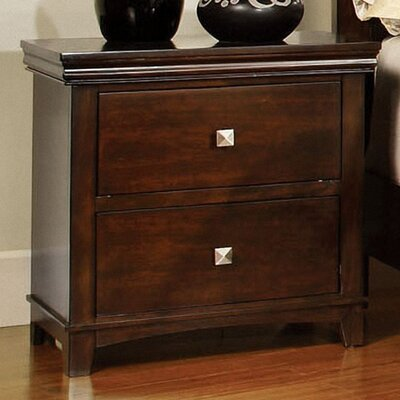 Elyot 2 Drawer Nightstand Finish: Brown Cherry
