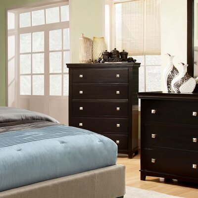 Elyot 5 Drawer Chest Finish: Brown Cherry