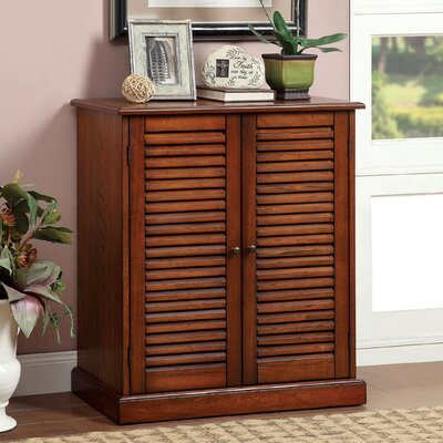Polton Louvre 20-Pair Shoe Storage Cabinet Finish: Oak