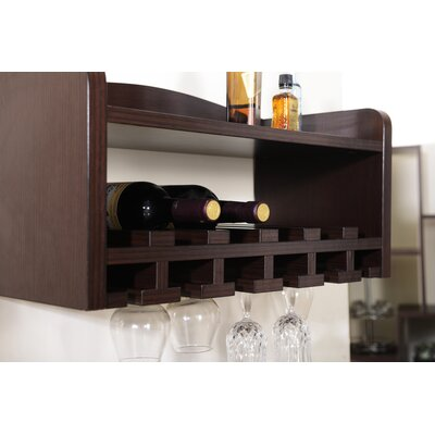 McLeansboro 6 Bottle Wall Mounted Wine Rack