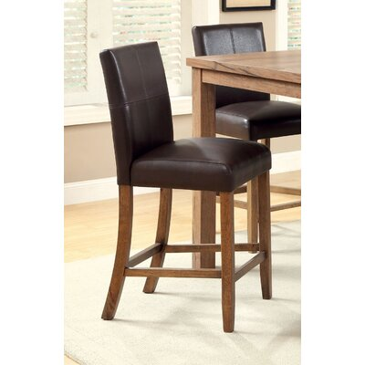 Adalwine 25 Bar Stool with Cushion Seat Color: Espresso Leatherette
