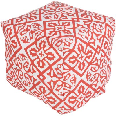 Eyston Pouf Ottoman Upholstery: Coral