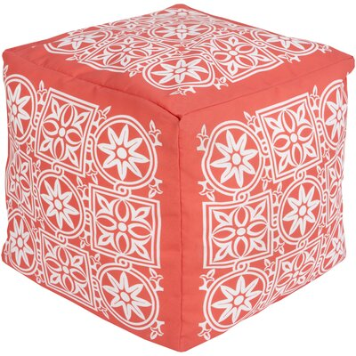 Digby Pouf Ottoman Upholstery: Coral