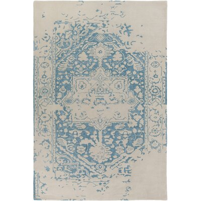 Angeles Hand-Tufted Blue/Gray Area Rug Rug Size: 4 x 6