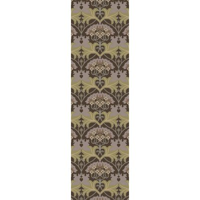 Pritchard Hand-Knotted Brown/Green Area Rug Rug Size: Runner 26 x 8