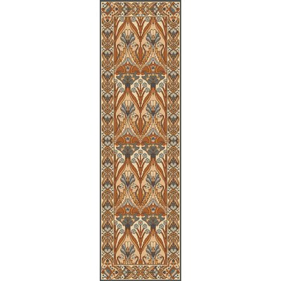 Pritchard Hand Knotted Brown Area Rug Rug Size: Runner 26 x 8