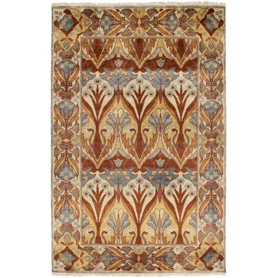 Pritchard Hand Knotted Brown Area Rug Rug Size: Rectangle 8 x 11