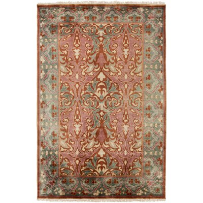Pritchard Hand Knotted Pink/Gray Area Rug Rug Size: Rectangle 8 x 11