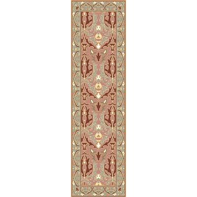 Pritchard Hand Knotted Pink/Gray Area Rug Rug Size: Runner 26 x 8
