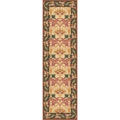 Pritchard Hand Knotted Beige Area Rug Rug Size: Runner 26 x 8