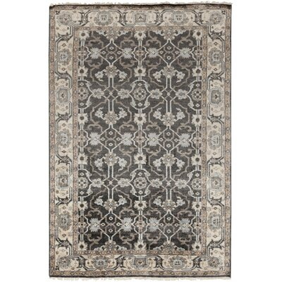 Gullette Hand Knotted Gray Area Rug Rug Size: Rectangle 6 x 9