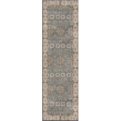 Gullette Hand Knotted Gray Area Rug Rug Size: Runner 26 x 8