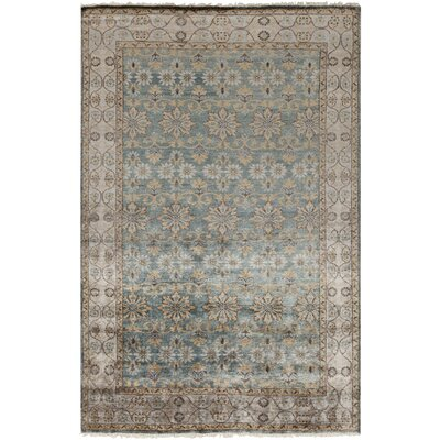 Gullette Hand Knotted Gray Area Rug Rug Size: 6 x 9