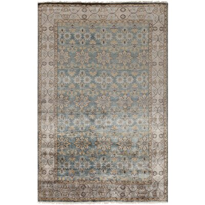 Gullette Hand Knotted Gray Area Rug Rug Size: 5 x 8
