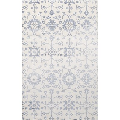 Iroquois Hand Woven Blue/Gray Area Rug Rug Size: 5 x 8