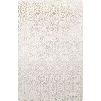 Iroquois Ivory Area Rug Rug Size: Rectangle 33 x 53