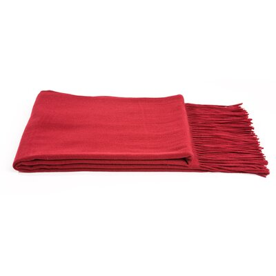 Dickson Wool Throw Color: Merlot
