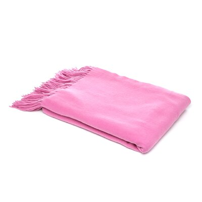 Dickson Wool Throw Color: Purple Fuchsia