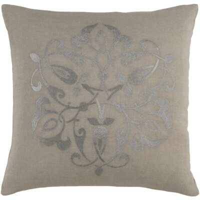 Burdette Throw Pillow Size: 22 H x 22 W x 4 D, Color: Gray/Light Gray