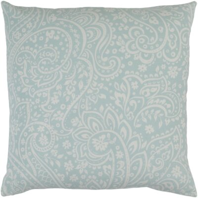 Brehmer Cotton Throw Pillow Size: 18 H x 18 W x 4 D, Color: Slate / Ivory