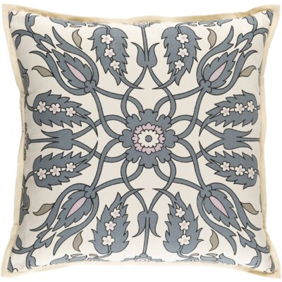 Chafin Linen Throw Pillow Size: 22 H x 22 W x 4 D, Color: Slate/Pastel Pink/Olive/Black/Ivory