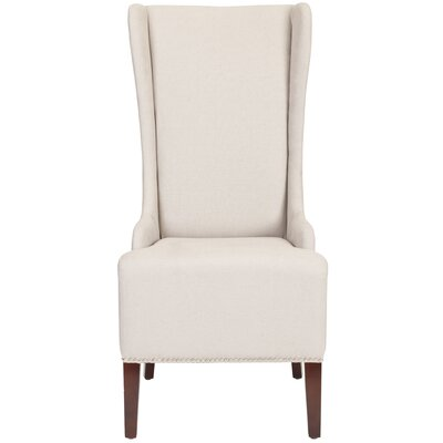 Magnolia Side Chair Upholstery: Taupe with Silver Stud Trim