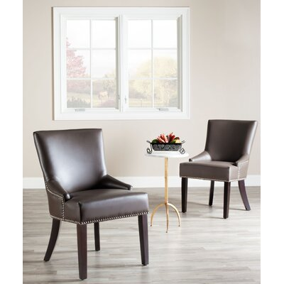 York Genuine Leather Upholstered Dining Chair Upholstery: Clay
