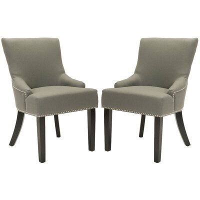 York Upholstered Dining Chair Upholstery: Grey