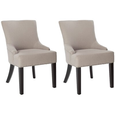 York Upholstered Dining Chair Upholstery Color: Taupe, Leg Color: Espresso