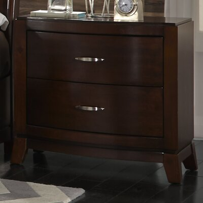 Loveryk 2 Drawer Nightstand