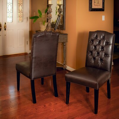 Radley Parsons Chair Upholstery: Leather / Brown