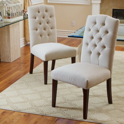 Radley Parsons Chair Upholstery: Fabric / Ivory