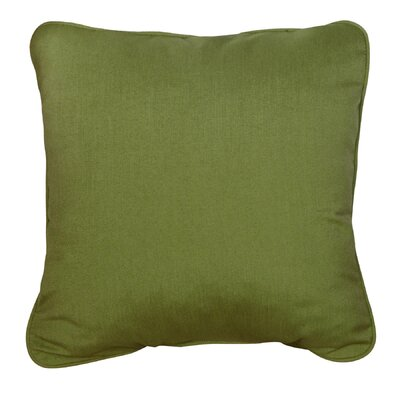 Basilia Outdoor Sunbrella Throw Pillow Size: 18 x 18, Fabric: Spectrum Cilantro