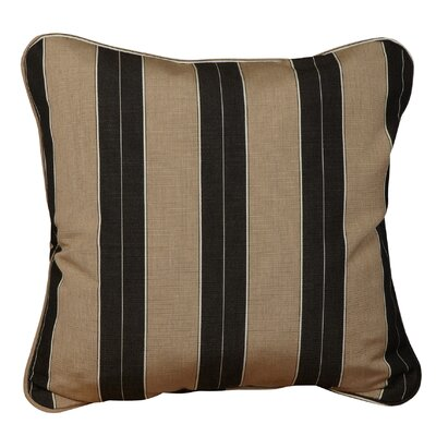 Basswood Outdoor Sunbrella Throw Pillow Size: 18 x 18, Fabric: Berenson Tuxedo