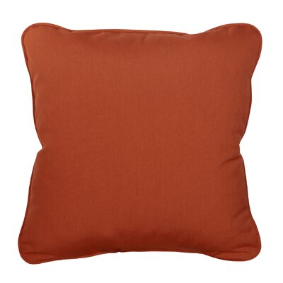 Basilia Outdoor Sunbrella Throw Pillow Size: 18 x 18, Fabric: Canvas Rust