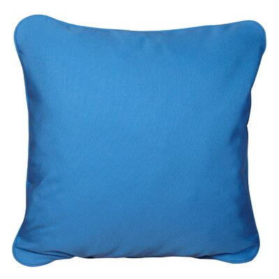 Basilia Outdoor Sunbrella Throw Pillow Size: 20 x 20, Fabric: Canvas Capri
