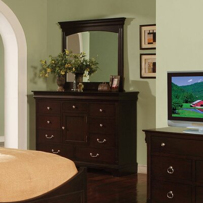 Riegel 8 Drawer Combo Dresser with Mirror