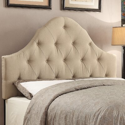 Rendville Curved B/T Queen Panel Headboard Color: Hayden Beige