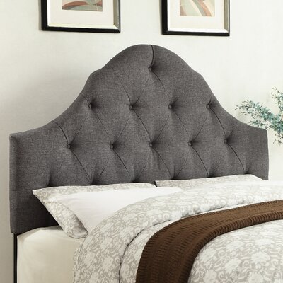 Jones Queen Upholstered Panel Headboard Color: Hayden Gray